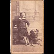 CDV Photo of Boy and Dog