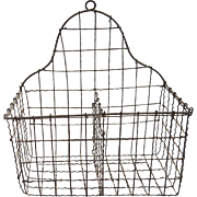 Early 1900s Hanging Wire Wall Basket