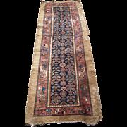 c1900 Antique Hamadan Persian Rug 7' Runner