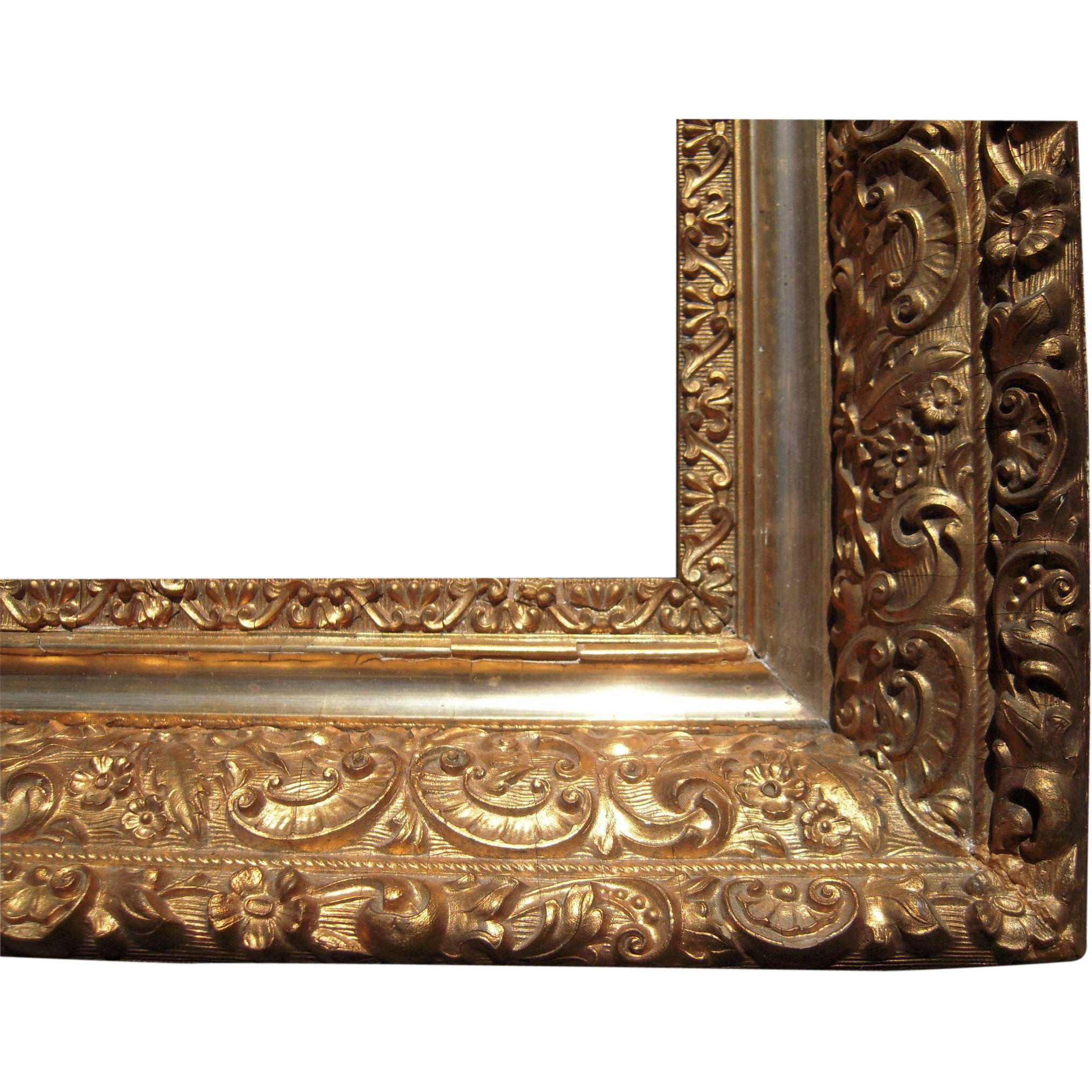 "Large Ornate Gold Antique Victorian Picture Frame 16"" x 20 ..."