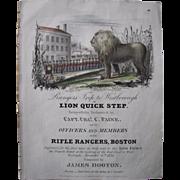 """1834 Sheet Music """"Lion Quick Step"""""""