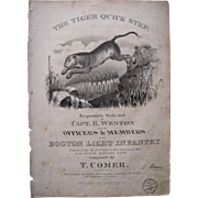 "1834 Sheet Music ""Tiger Quick Step"""