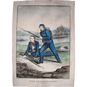 "Hand Colored Currier & Ives Civil War Print ""The Soldier Boys"""