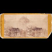 Civil War Stereoview 1st Michigan Engineers at Atlanta, GA