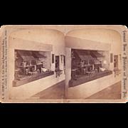 c1880 Stereoview Philadelphia Mint Interior