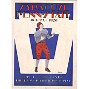 1926 Football Program Syracuse at Penn State