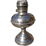 "Victorian Era Nickel Plated Brass Table Lamp Font ""Rayo"""