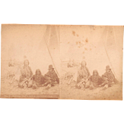 1880s Stereoview Sitting Bull's Camp