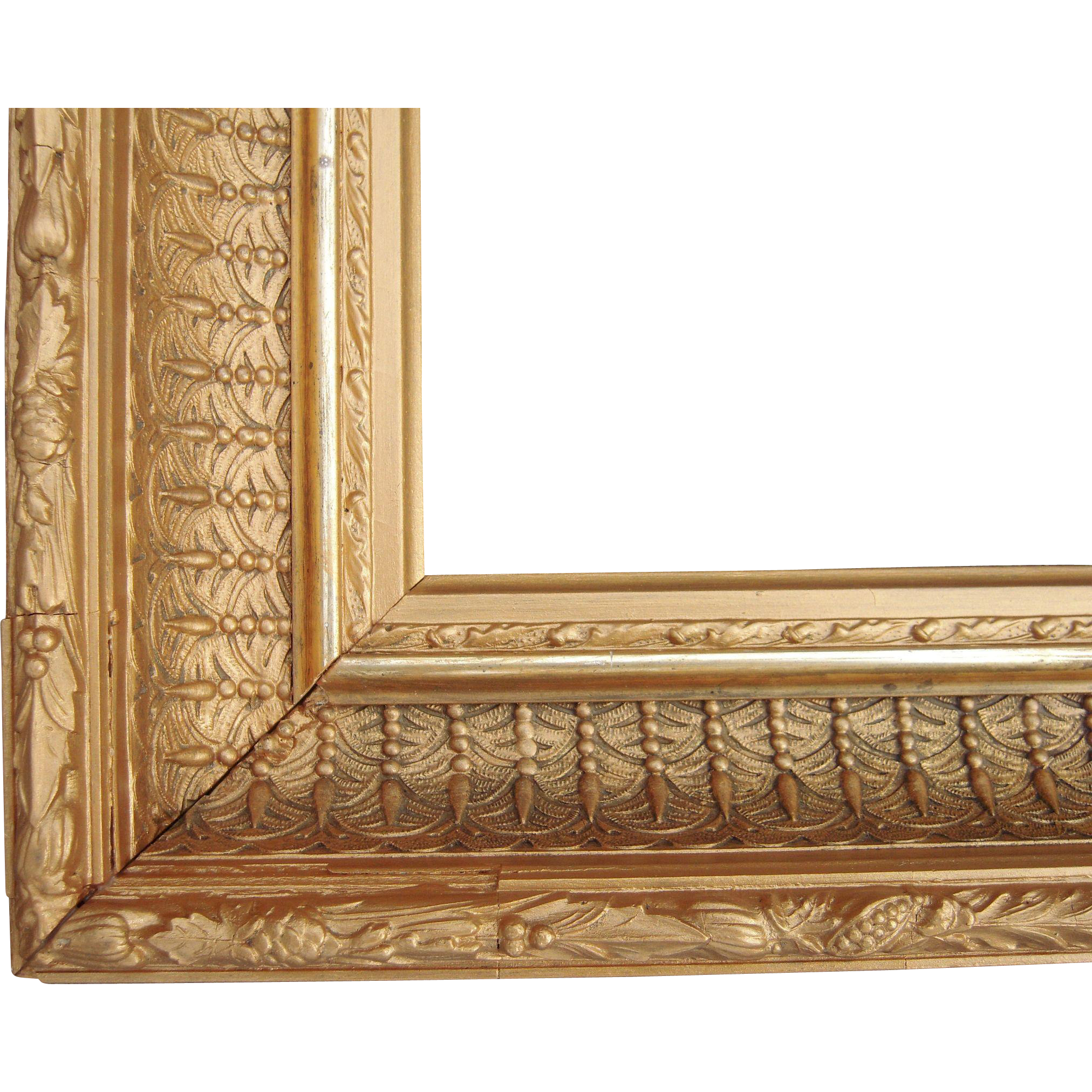 ornate gold victorian picture frame 12 x 17 from
