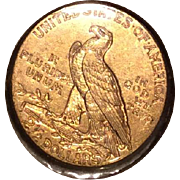 Quarter Eagle Gold Coin 1909
