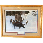 Turning Back at Red Lake Hill By Robert Blair  Double signed and number Litho/Print.  Pro Matted & Framed