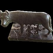 Capitoline Wolf Bronze Figurine