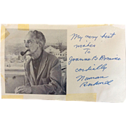 Norman Rockwell Autograph, Signature