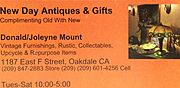 New Day Antiques, Collectables and Gifts