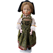 "Marion Kaulitz Munich Art Doll, German Kuenstlerpuppe, 45cm, 18"""