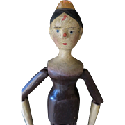 """Wooden Jointed Doll, 35cm, 14"""""""