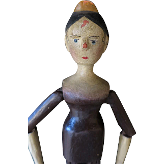 Wooden Jointed Doll, 35cm, 14""