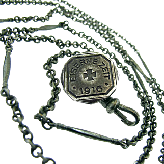 1916 Berlin Iron Long Guard Necklace - Eiserne Zeit 1916