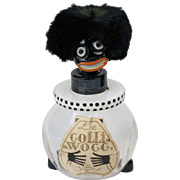 RARE 1920s Glass Le Golliwogg de Vigny Perfume Bottle with Original Box