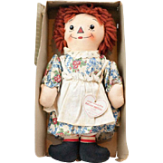 1930s Georgene Johnny Gruelle Raggedy Ann Asleep/Awake Doll in Original Box
