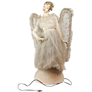 1950s Mid-Century Composition Light Up Angel Fairy Store Display 24""