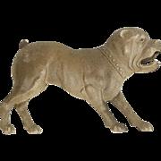 "RARE Antique Victorian Era Dresden Paper Barking Bulldog Ornament 4"""