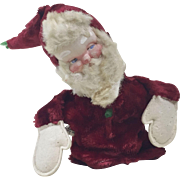 1930s Mask Face Santa Claus Hand Puppet by Clare Creations 10""