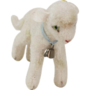 "1950s German Steiff White ""Lamby"" Lamb 4 1/2"""