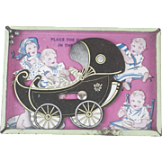 1930s Lithographed Baby Quintuplets Dexterity Game 5""
