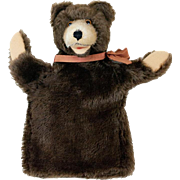 1950s German Steiff Teddy Bear Hand Puppet