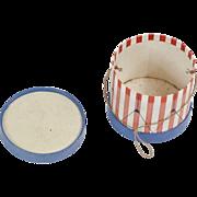 """1910s Antique Paper Patriotic Drum Candy Container 2"""""""