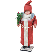 1910s Antique German Long Coat Santa Claus Candy Container 9""