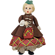 1930s Italian Lenci Flirty Googly Eye Doll in Regional Dress 19""