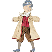"""1920s WPA Dickens Character Puppet 18"""""""