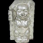"""1910s Bonzo Dog Metal Chocolate Mold 5"""""""