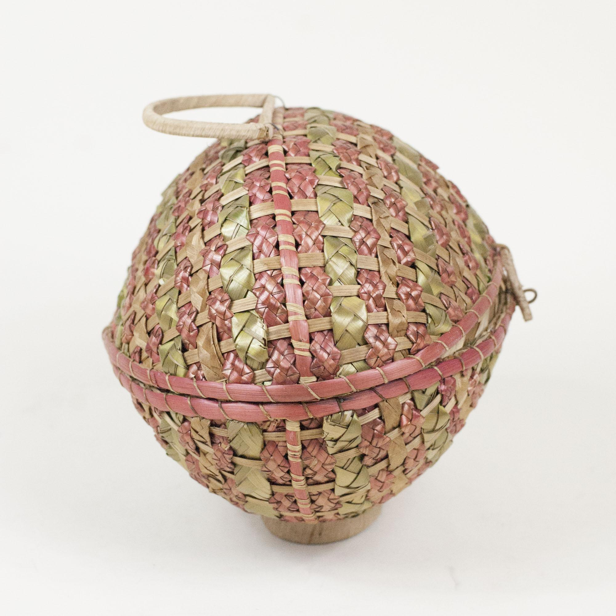 Antique Woven Egg Basket : S antique wicker woven easter egg basket quot from