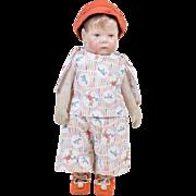 "Antique German Kathe Kruse #1 Toddler Doll 16"""