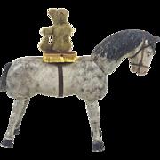 "Antique Schoenhut Wooden Circus Horse with Platform Saddle 10"""