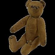 """1920's Small Steiff Jointed Mohair Teddy Bear 7"""""""