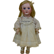 1910's SFBJ 301 Doll with Blonde Hair Blue Eyes Bisque Head & Toddler Body 13.5""