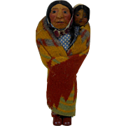 Mary Francis Woods Native American Indian Woman with Baby Papoose Doll