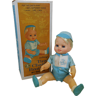 1962 Mattel Talking Tiny Chatty Brother Doll Complete in Box
