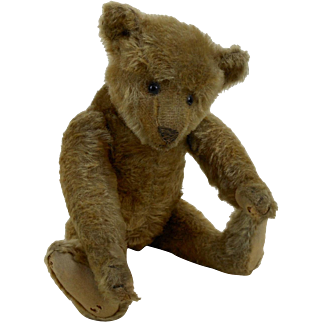 """1908 Large Steiff Humpback Bear Fully Jointed Shoe Button Eyes FF Underscore 13"""""""
