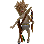 1960's KLUMPE Doll Winged Cupid with Bow & Arrows Spain