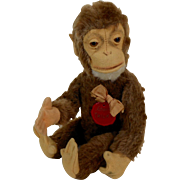Tricky Schuco YES - NO Monkey with Plastic Tag All Original