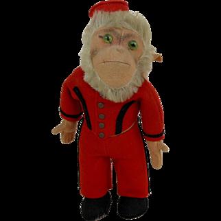 Steiff Monkey COCOLI in Red Bellhop Uniform with Glass Eyes No ID (A)