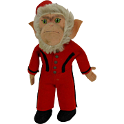 Steiff Monkey COCOLI in Red Bellhop Uniform with Glass Eyes No ID (B)
