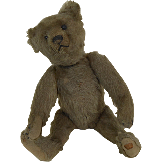 """Early 1900's Steiff Teddy Bear Fully Jointed Shoe Button Eyes No ID 10"""""""