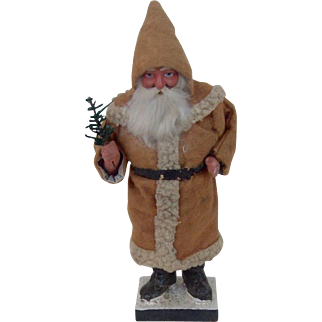 Early German Santa Claus with Sprig Candy Container