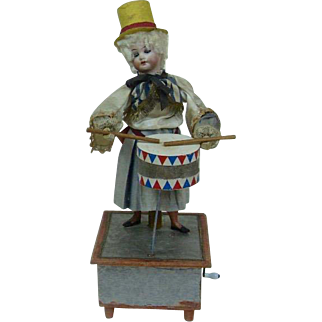Automaton and Mechanical Turn of the Century Drummer
